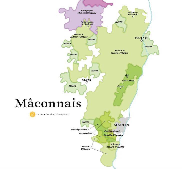 carte vins maconnais