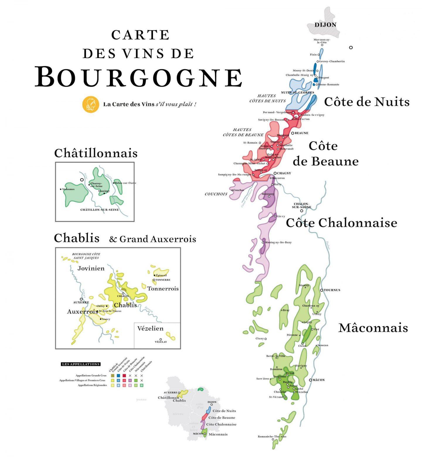 carte vins bourgogne