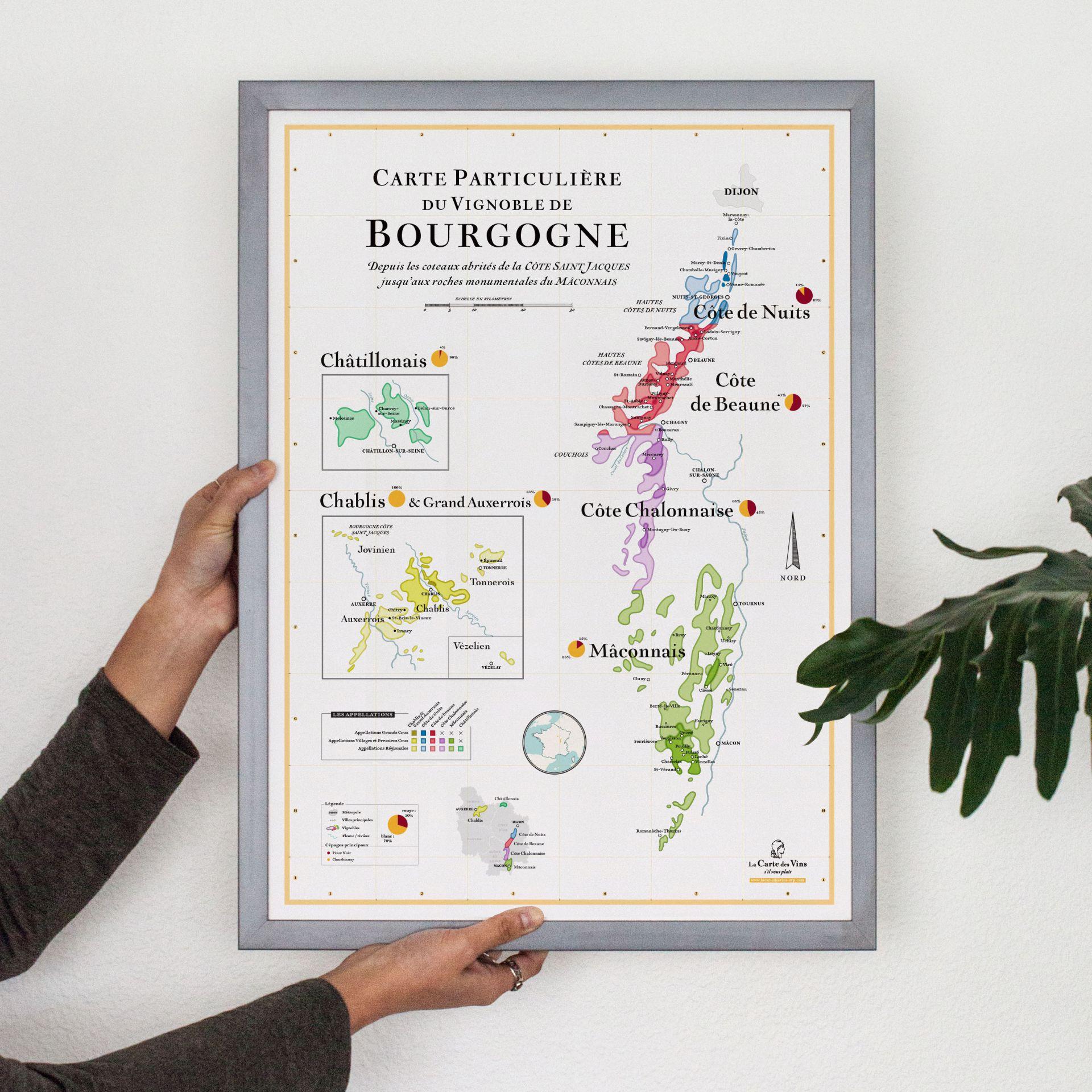carte vin bourgogne